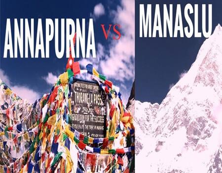 Annapurna circuit VS Manaslu circuit trek