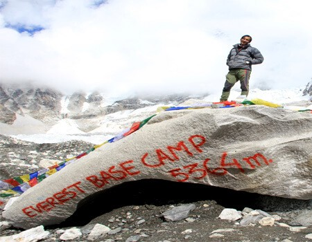 Base camp trek in Nepal