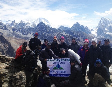 Gokyo valley trek with students