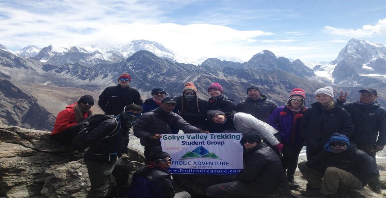 Gokyo valley trek with students