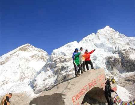 Helicopter return Everest base camp trek
