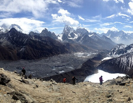 Everest from Renj La pass